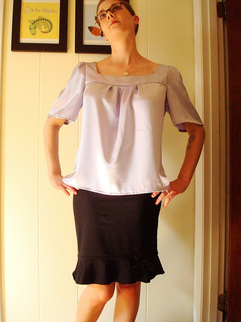 Lavender blouse, New Look 6705