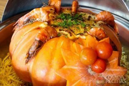 Receita de Camarão na moranga especial em receitas de crustaceos, veja essa e outras receitas aqui!