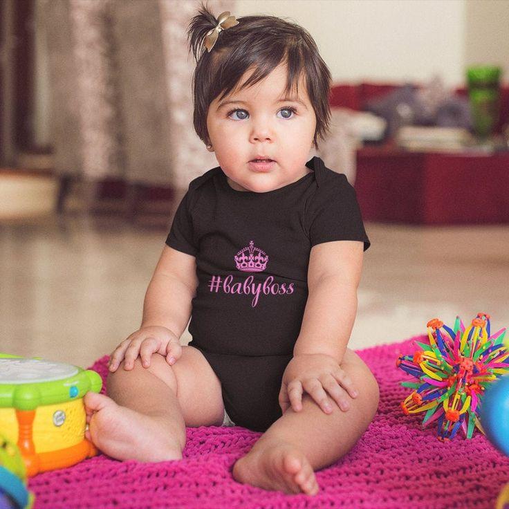 Baby boss onesie baby girl onesie baby girl clothes etsy