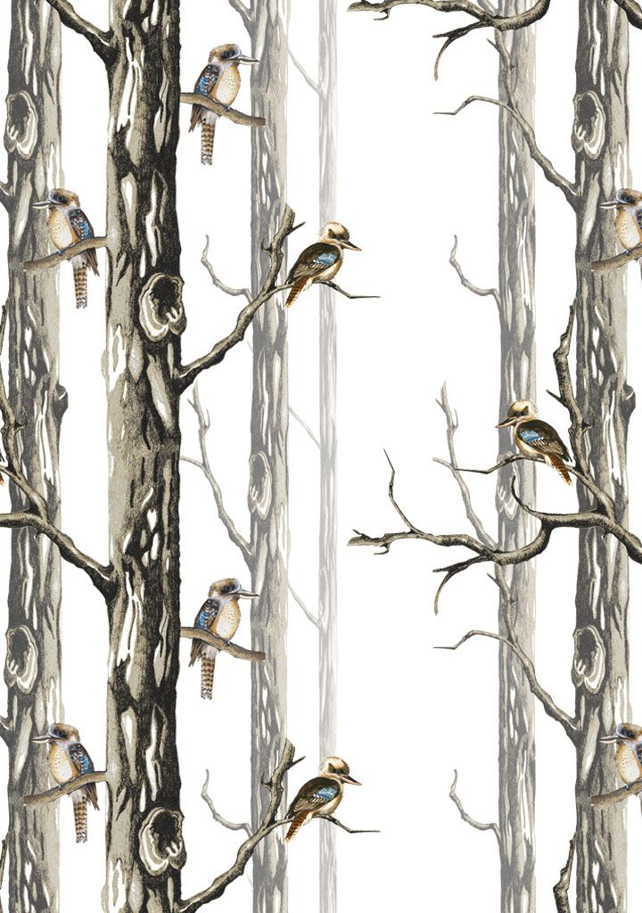 Birds in the Woods Wallpaper - Funky Wombat Textiles