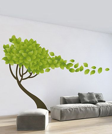 Look what I found on #zulily! Tree In The Wind & Leaves Wall Decal Set #zulilyfinds
