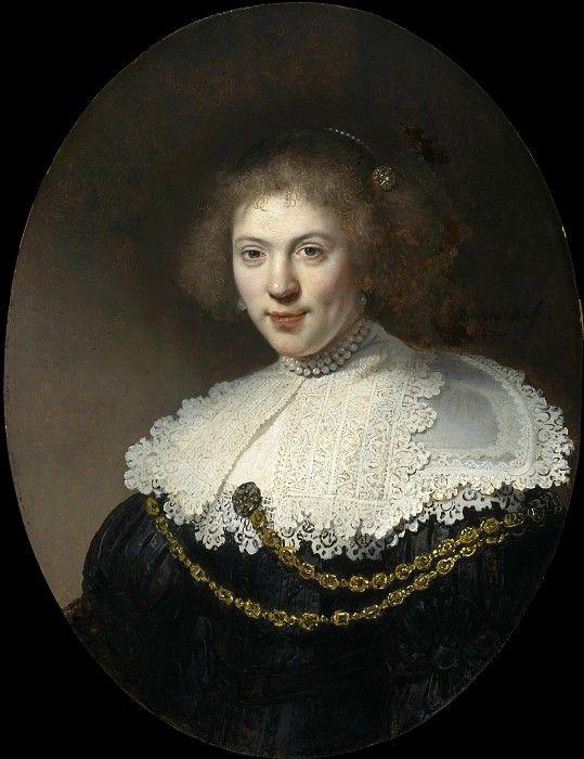 Портрет женщины с золотой цепочкой. Рембрандт Харменс ван Рейн.    1634/ Музей искусств Бостон