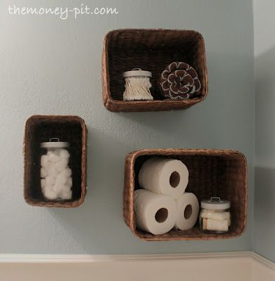 The Kim Six Fix: Turning Baskets into Shelves