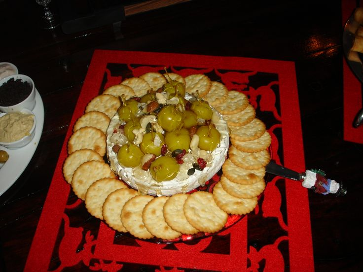 Camembert Cheese with apples