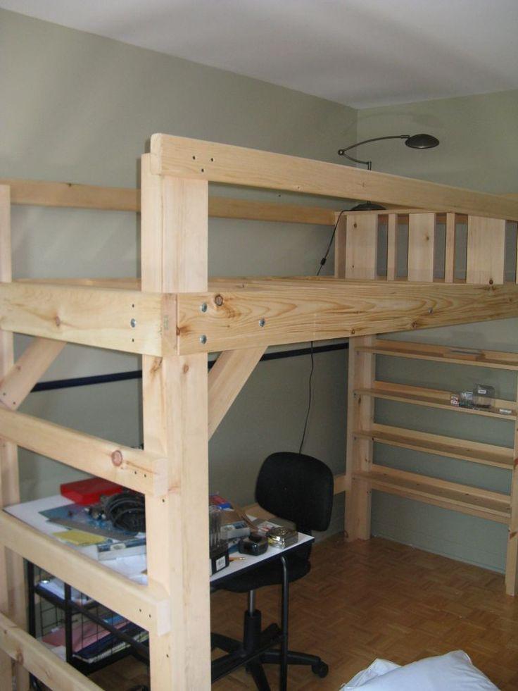 College Bed Loft Twin Xl Kids Rooms Adult Loft Bed