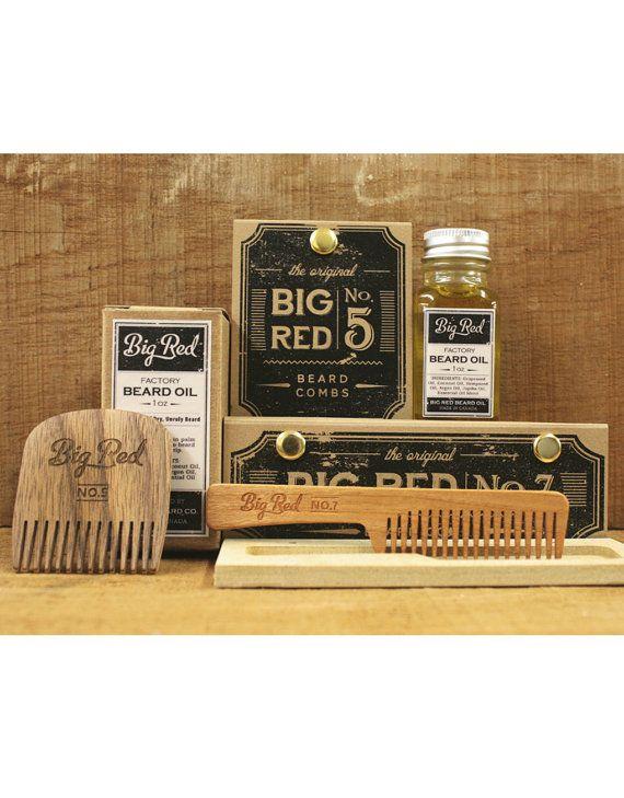 Big Red Beard Kit  2 Combs 1 Beard Oil by BigRedBeardCombs on Etsy, $51.00