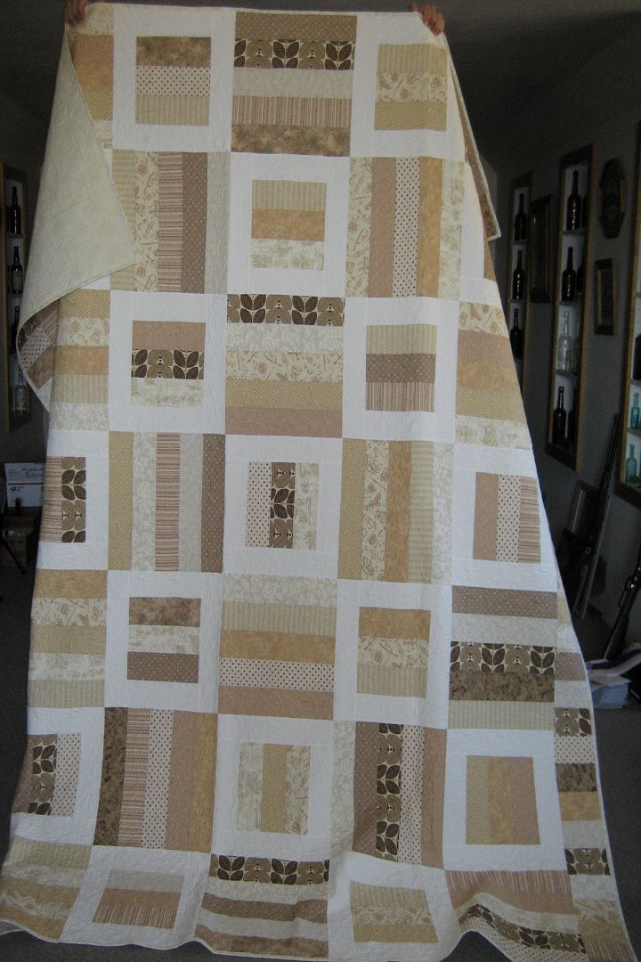 Radio Way Pattern.  Queen Quilt by Deb Silva, wedding gift for Logan and Jayson Doyle