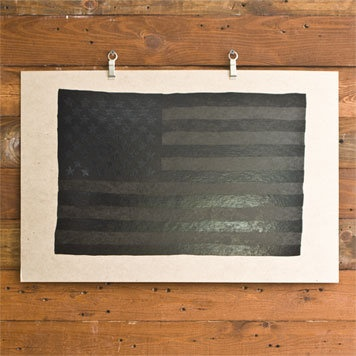 Black american flag print. Like this a lot