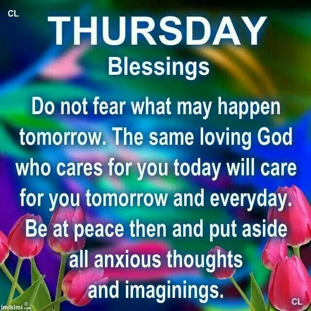 Thursday Blessings...