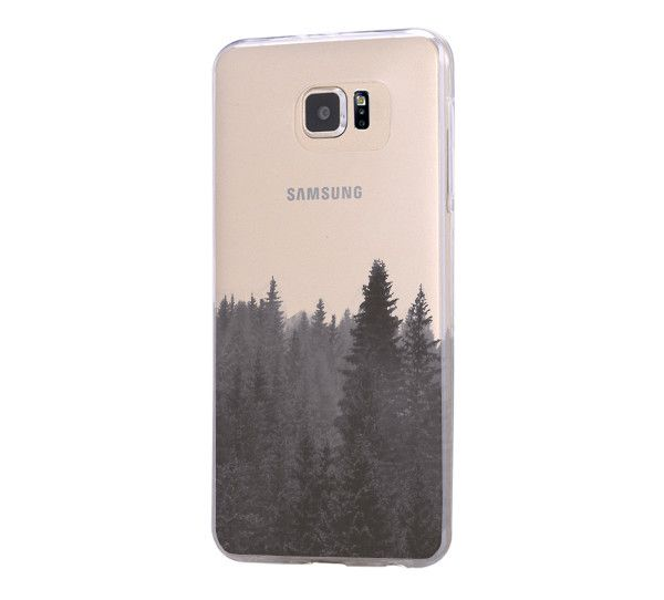 Forest Fog Samsung Galaxy S6 Edge Clear Case Galaxy S6 Transparent Case Samsung S5 Hard Cover C0001