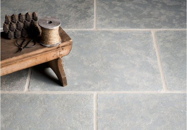 Tumbled Antiqued Ash Limestone Tiles | Floors of Stone