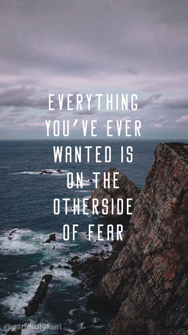 Everything Youve Ever Wanted Is On The Otherside Of Fear Ocea