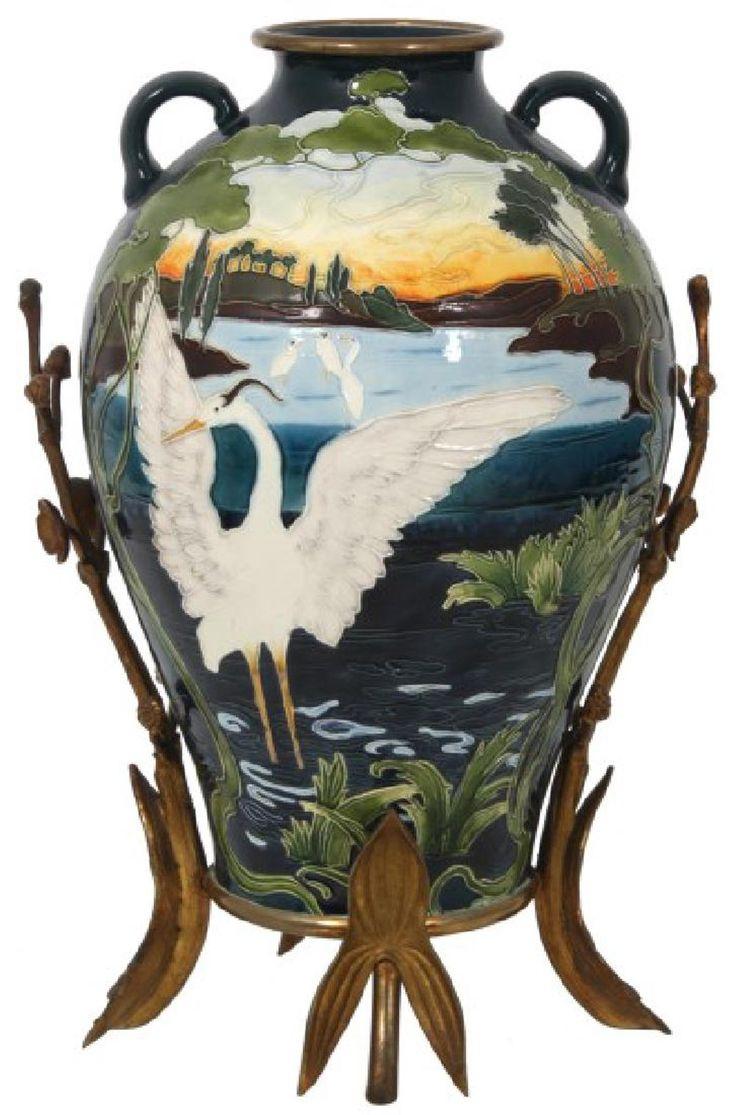 1013 best wish worthy pottery images on pinterest china deutsch julius dressler tube lined pottery vase reviewsmspy