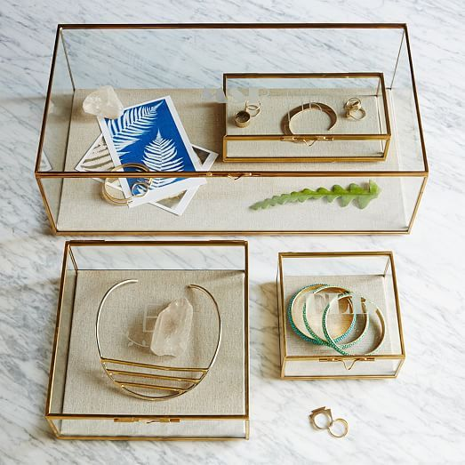 Glass Shadow Boxes | west elm || Organization