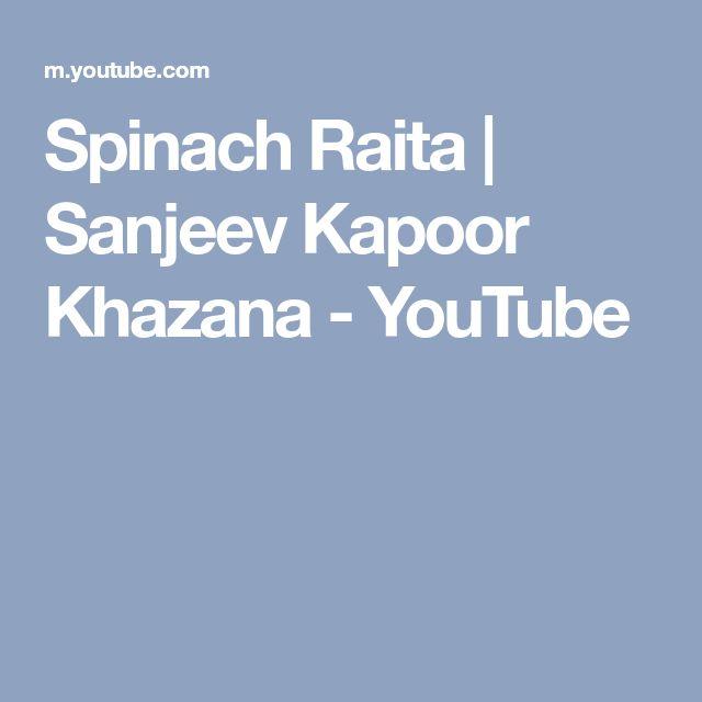 Spinach Raita   Sanjeev Kapoor Khazana - YouTube