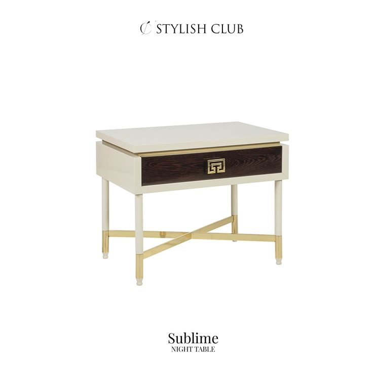 This side table expands the limits of design with an elegant composition of colours finished with a matte and high gloss materials.