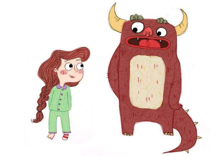 Picture book concept character designs.
