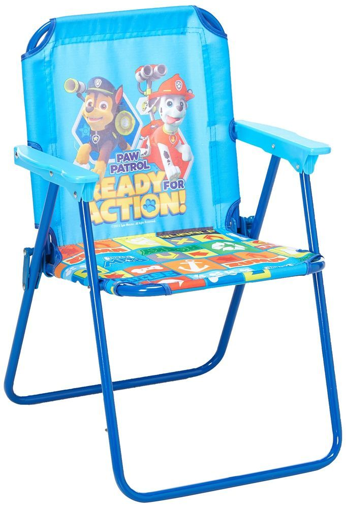 Toddler Patio Chair Paw Patrol Durable Boys Seat Garden Pool Side Yard Kids Toy | Paw patrol  sc 1 st  Pinterest : toddler patio chair - Cheerinfomania.Com
