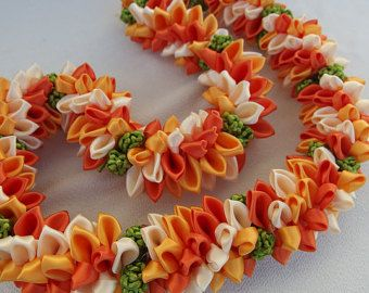 Beautiful ribbon lei sold on Etsy. But my creative…