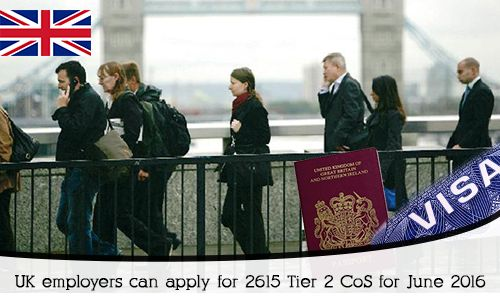 #UK #Employers can Apply for 2615 #Tier2 CoS for June 2016. Read more...     https://www.morevisas.com/immigration-news-article/uk-employers-can-apply-for-2615-tier-2-cos-for-june-2016/4524/
