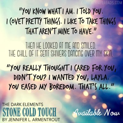 Blog Tour & Teasers: Stone Cold Touch (The Dark Elements #2) by Jennifer L. Armentrout