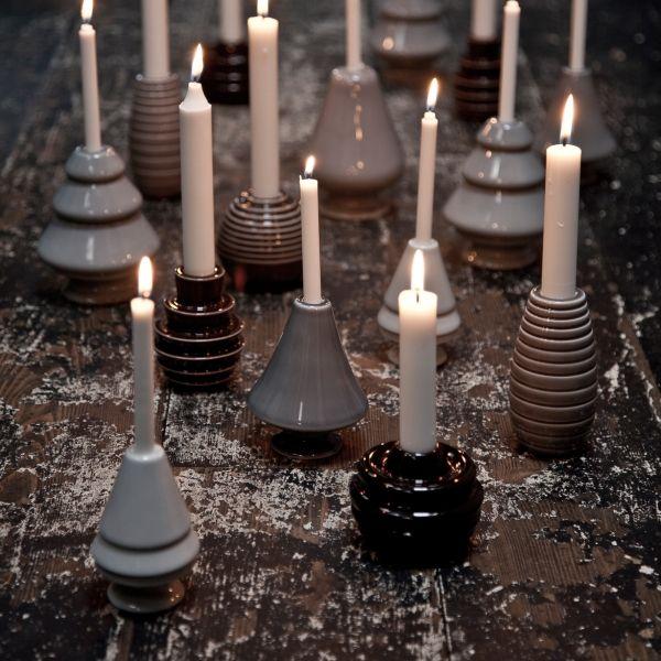 Avvento grau Weihnachtsbaum Leuchter Medium von Kähler Design bei Mikkili online design