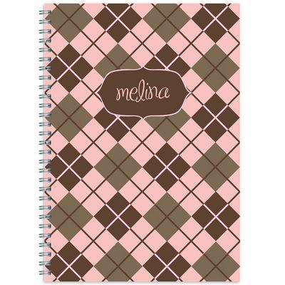 Pink Argyle Spiral Notebook: Spirals Notebooki, Spiral Notebooks, Argyle Spirals, Spirals Notebooks I