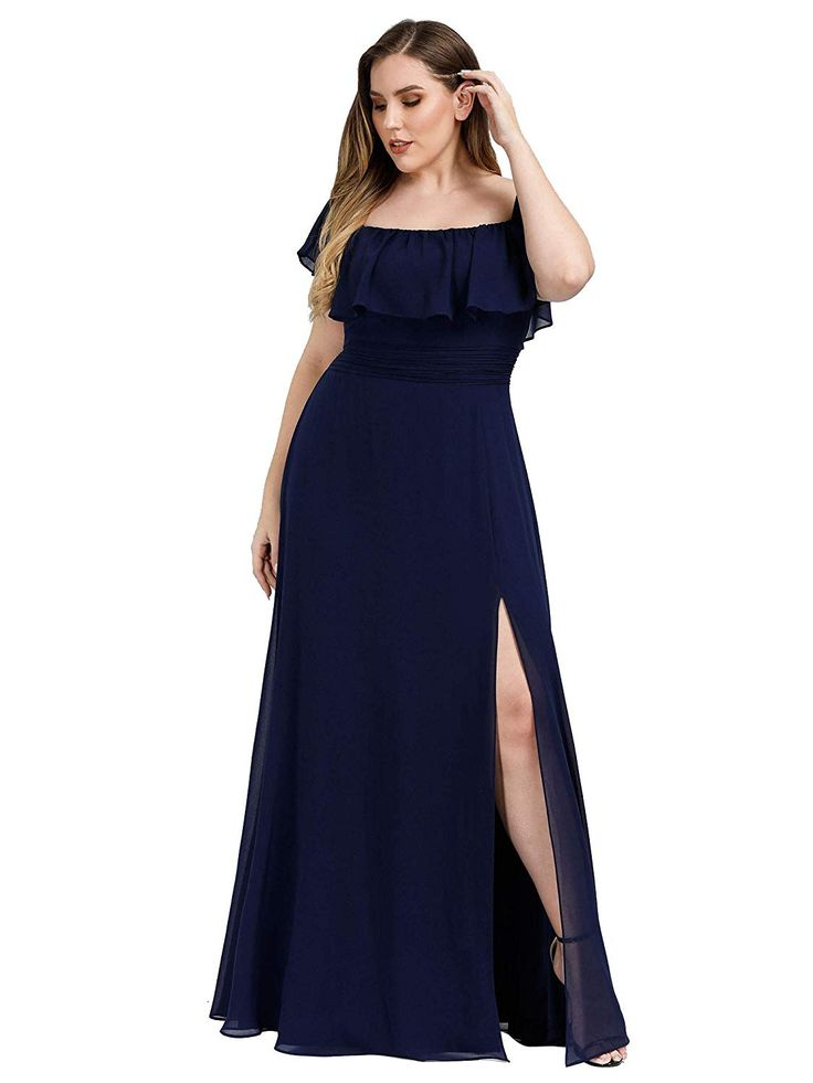 Amazon.com: Ever-Pretty Women's Plus Size Off Shoulder ...