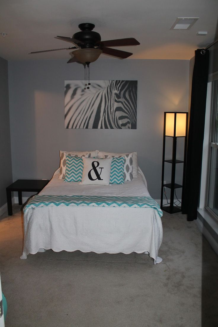 Turquoise Bedroom Decorating Ideas | ... decorating ideas Turquoise And Grey Chevron Bedroom bedroom decor idea
