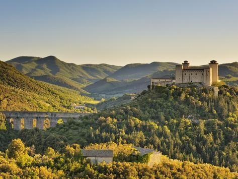 Italy, Umbria, Perugia District, Spoleto, Rocca Albornoz and Ponte Delle Torri Photographic Print by Francesco Iacobelli at AllPosters.com