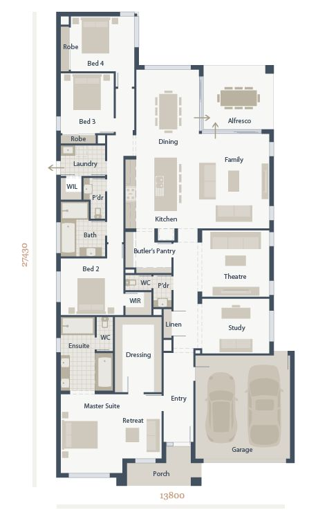 Best 25 australian house plans ideas on pinterest one for House plans with butlers pantry australia