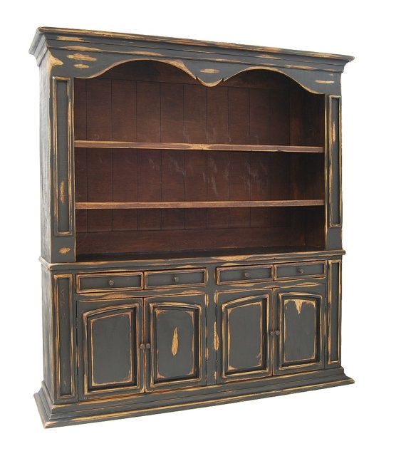 Black Distressed Library Wall Unit Large By Reclaimed100yearold, $1799.00