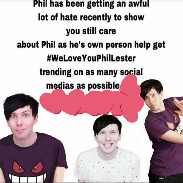 #WeLoveYouPhilLester ❤️❤️❤️❤️We all do Phil, never forget that. We're here for you, always