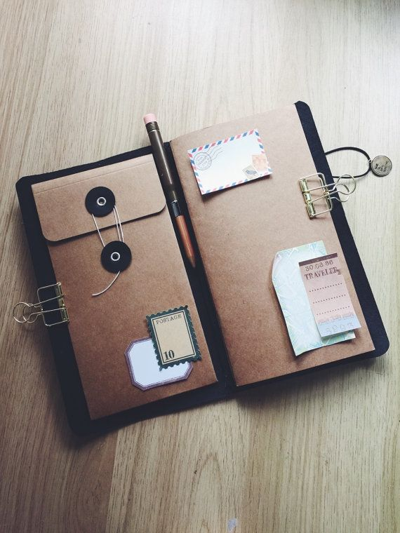 Kraft envelop pocket for Midori traveler's notebook