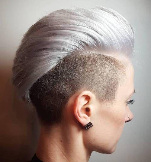 silver blonde mohawk