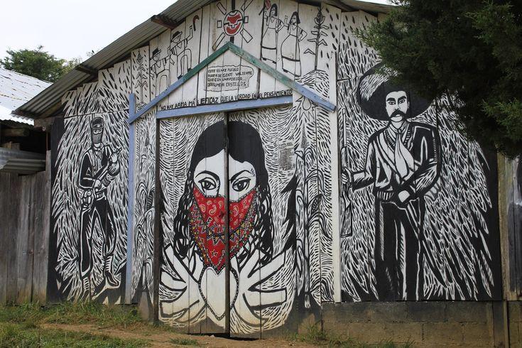 caracol oventic altos de chiapas mural zapatista zona