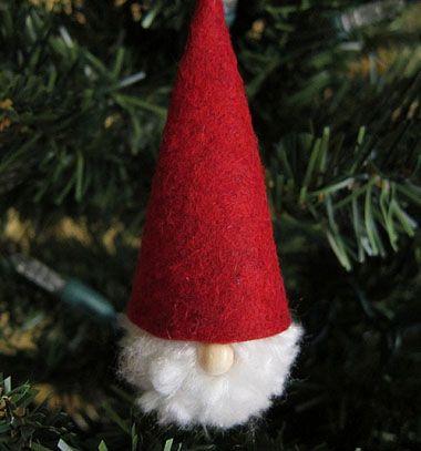 Cute Pompom Santa // Pompon Mikulásos karácsonyfadísz egyszerűen // Mindy - craft & DIY tutorial collection