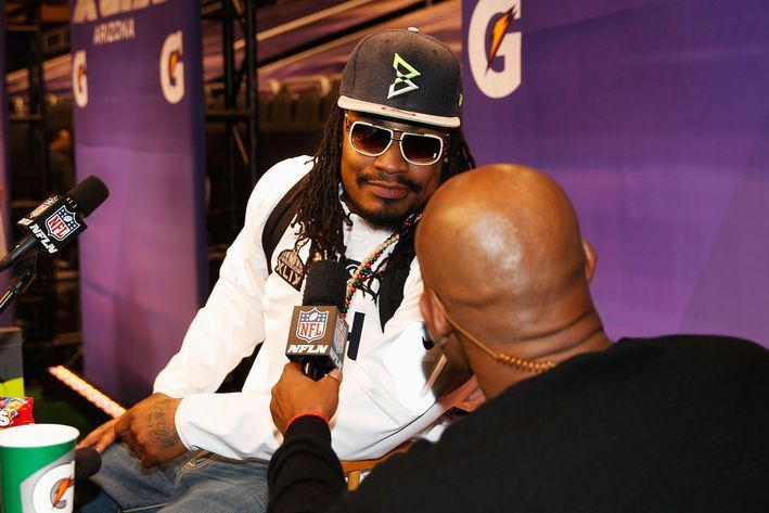Super Bowl 2015: Marshawn Lynch could get fined for 'Beast Mode' hat - SBNation.com