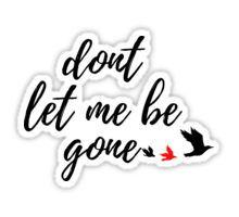 goner - twenty one pilots lyrics Sticker