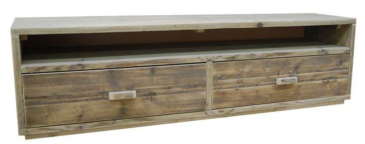 TV meubel steigerhout lades