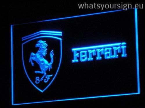 ferrari led neon light sign display made of the highest quality transparent acrylic and intense