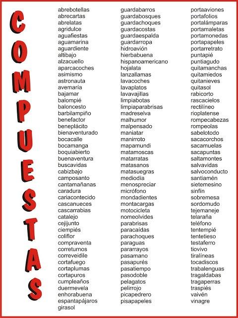 Juego para relacionar mitades de palabras compuestas. http://www.primaria.librosvivos.net/archivosCMS/3/3/16/usuarios/103294/9/4EP_Lengua_palabrascomp_ud09/frame_prim.swf