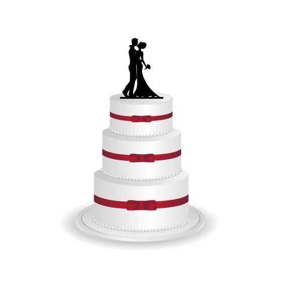 Etsy Wedding Cake Topper Silhouette