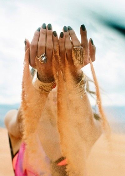 When it comes to your jewels, get inspired by the world around you. #fashion #creative #photography #beach #nails #jewellery #colourful