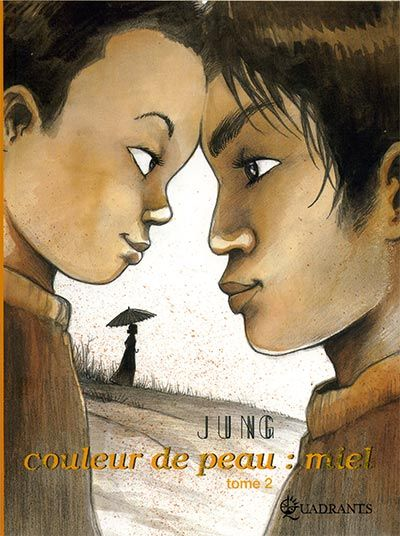 'Skintone: honey' (Couleur de peau: miel) by Jung: at 14 he was adopted a few years earlier by a Belgian family, far from his birthplace, South Korea. Difficulties of adolescence, profound geographical dislocation and identity research get to him. Girls and first love, the desire for independence and freedom, but also the rejection of his native country, and a wish for maternal love difficult to fill. Growing up he finds a form of redemption and peace with others and with himself.-