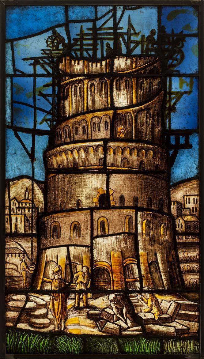 Arcimboldo, Vetrata Torre di babele per la Cattedrale di Milano