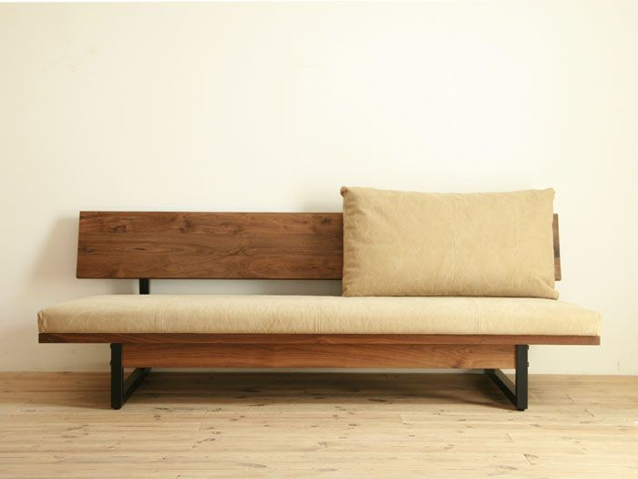 Ooh, nice bench~!: Chai Lounges, Lounges Sofas, Wood Benches, Chaise Lounges, Future House, Furniture, Daybeds, Studios Couch,  Day Beds