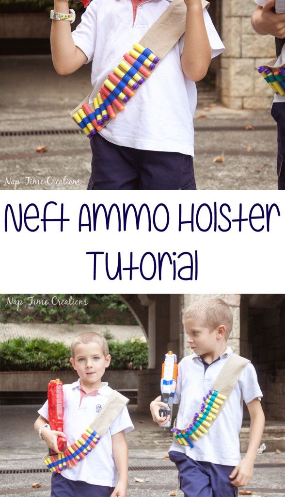 Nerf Ammo Holster tutorial from Nap-Time Creations