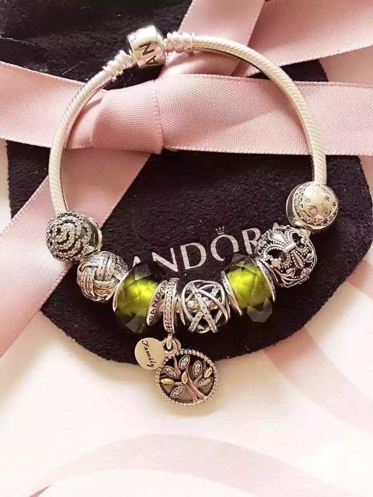 50% OFF!!! $219 Pandora Charm Bracelet Green. Hot Sale!!! SKU: CB01835 - PANDORA Bracelet Ideas
