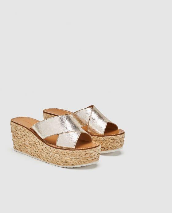 5ed6a587 CUÑA TIRAS PIEL en 2019 | zapatos | Zapatos, Piel y Chinelas